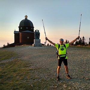 Jiří Sumbal na vrcholu Radhošť (18.8.2018 19:28)