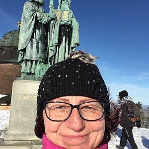 Kamila  Petrová na vrcholu Radhošť (12.1.2020 12:07)