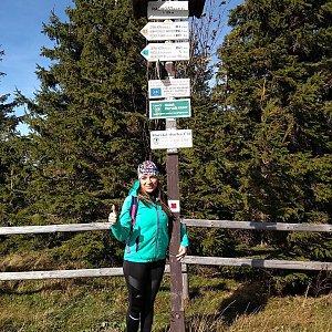 Andy na vrcholu Radhošť (6.10.2018 13:00)