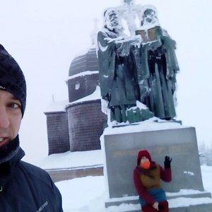 Vendula Kalocsányiová na vrcholu Radhošť (16.12.2018 14:23)