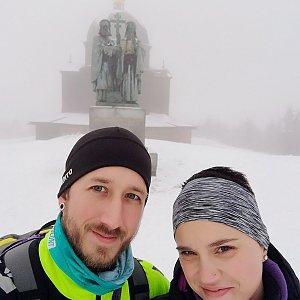 Michaela Hilscherová na vrcholu Radhošť (23.12.2018 12:14)