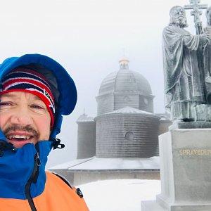 CERF1971 na vrcholu Radhošť (2.1.2021 9:02)