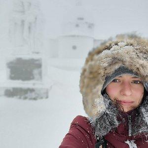 Veronika Klímová Komárová na vrcholu Radhošť (5.1.2019 9:17)