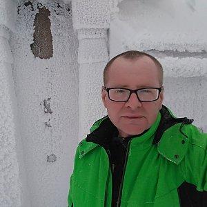 Milan Meravy na vrcholu Radhošť (6.1.2019 10:25)