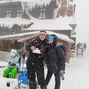 Martina Loskotová na vrcholu Radhošť (16.1.2021 13:05)