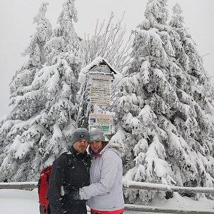 Tereza Holásková na vrcholu Radhošť (16.1.2021 14:00)