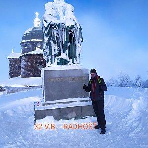 Aleš Sýkora na vrcholu Radhošť (17.1.2021 10:43)