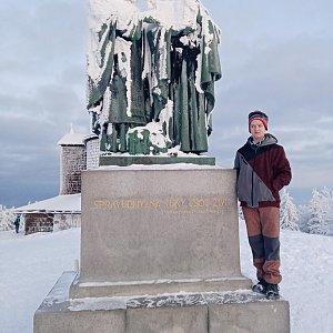 Arnošt na vrcholu Radhošť (10.1.2021 7:30)