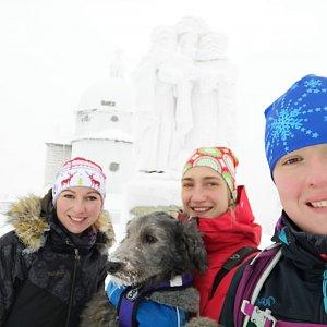Simona na vrcholu Radhošť (4.1.2019 12:30)