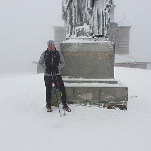 Igor Gluza na vrcholu Radhošť (25.1.2021 14:32)