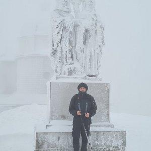 Jiří Gryz na vrcholu Radhošť (30.1.2021 9:34)
