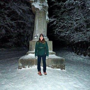 Milan Meravy na vrcholu Radhošť (1.2.2021 0:21)