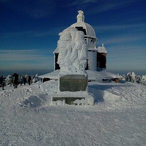 Martin Holuša na vrcholu Radhošť (19.1.2019 12:34)