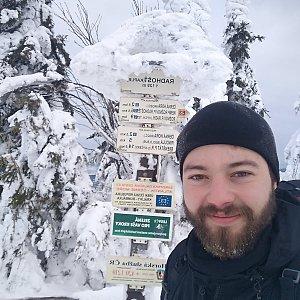 Hanys Vaněk na vrcholu Radhošť (20.1.2019 10:53)