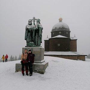 Buri na vrcholu Radhošť (6.2.2021 11:00)