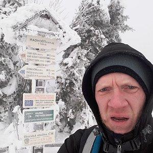 Lukáš Heralt na vrcholu Radhošť (24.1.2019 10:00)