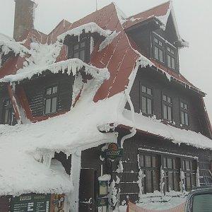 Gabča na vrcholu Radhošť (26.1.2019 10:07)