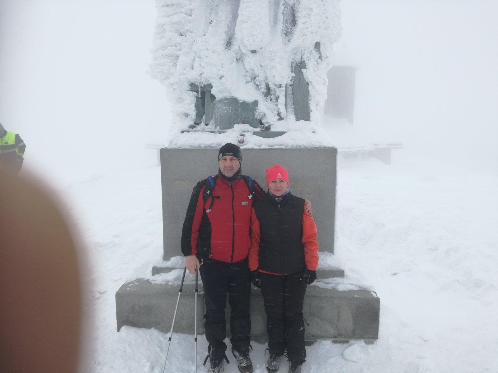 Jiří P na vrcholu Radhošť (26.1.2019 13:49)