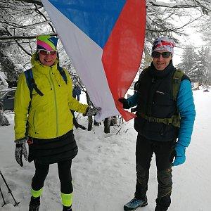 Petra Kosarkova na vrcholu Radhošť (16.2.2021 11:56)