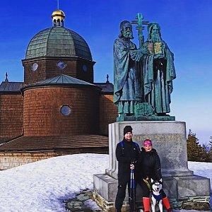 Nikol Podesvova na vrcholu Radhošť (21.2.2021 1:00)