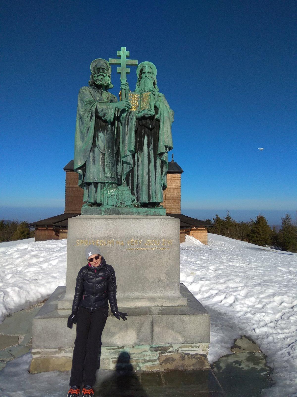Pavlína Sýkorová na vrcholu Radhošť (17.2.2019 10:18)