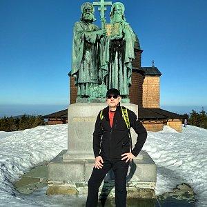 Aleš Sýkora na vrcholu Radhošť (17.2.2019 10:17)