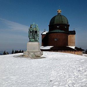 Iva Purmenská na vrcholu Radhošť (5.4.2021 9:23)