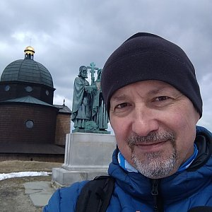 Merkys na vrcholu Radhošť (24.4.2021 13:36)