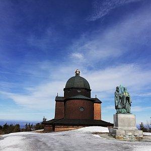 Martin Vlček na vrcholu Radhošť (17.3.2019 10:48)