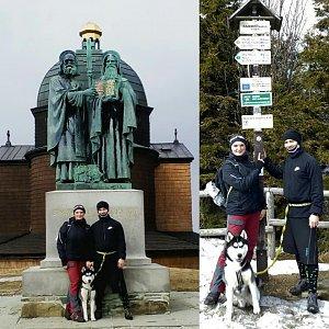Nikol Podesvova na vrcholu Radhošť (24.3.2019 12:00)