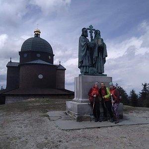 Kateřina Turčeková na vrcholu Radhošť (6.5.2021 17:00)