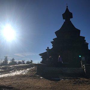 Veronika na vrcholu Radhošť (23.3.2019 7:52)
