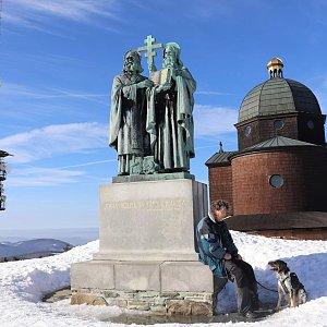 Čaky na vrcholu Radhošť (16.2.2019 14:49)