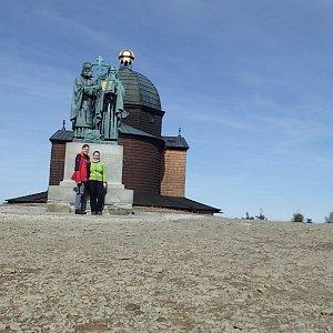 Janča na vrcholu Radhošť (30.3.2019 10:47)