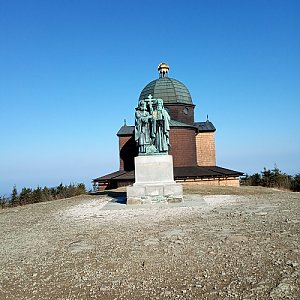 Radim na vrcholu Radhošť (7.4.2019 9:00)