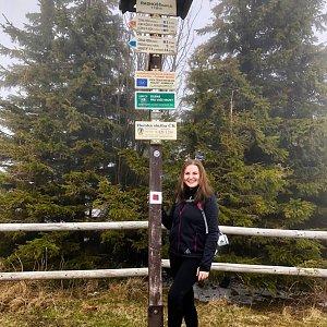 Nicole na vrcholu Radhošť (14.4.2019 11:04)