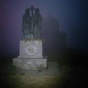 Jiří Tomaštík na vrcholu Radhošť (17.7.2021 3:50)