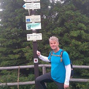 Jaroslav Macura na vrcholu Radhošť (17.7.2021 11:06)