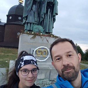Michal na vrcholu Radhošť (21.7.2021 5:05)