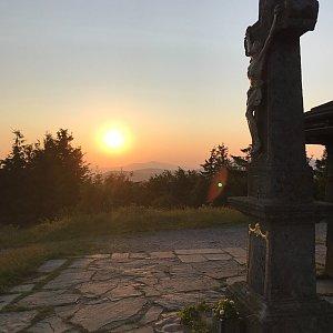 Boris na vrcholu Radhošť (24.7.2021 5:40)