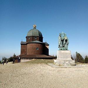 Iva Purmenská na vrcholu Radhošť (9.10.2021 13:25)