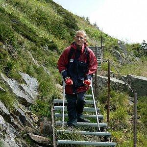 Mountainer na vrcholu Kozí hřbety - V vrchol (25.7.2009 12:40)