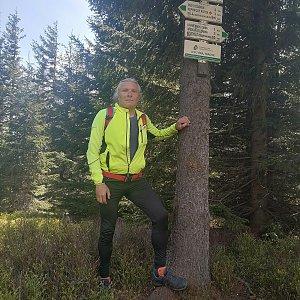 Jaroslav Hrabuška na vrcholu Točník (1.6.2021 13:26)