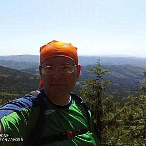 Milan Meravy na vrcholu Smrčník (17.6.2021 11:30)