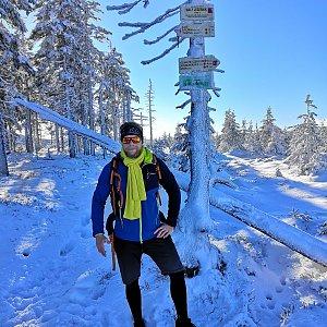 Tomáš Vašíček na vrcholu Malý Jezerník (31.12.2020 11:09)