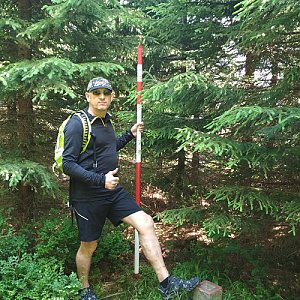 Aleš Sýkora na vrcholu Malý Klín (28.6.2019 11:27)