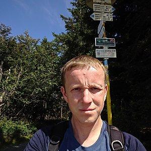 Lukáš Žídek na vrcholu Radegast - Z vrchol II (9.8.2019 12:07)