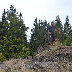 Jarda Vála na vrcholu Jílový vrch (7.9.2021)