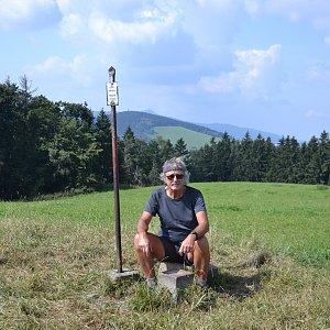 Jarda Vála na vrcholu Bienertův vrch (5.9.2021)
