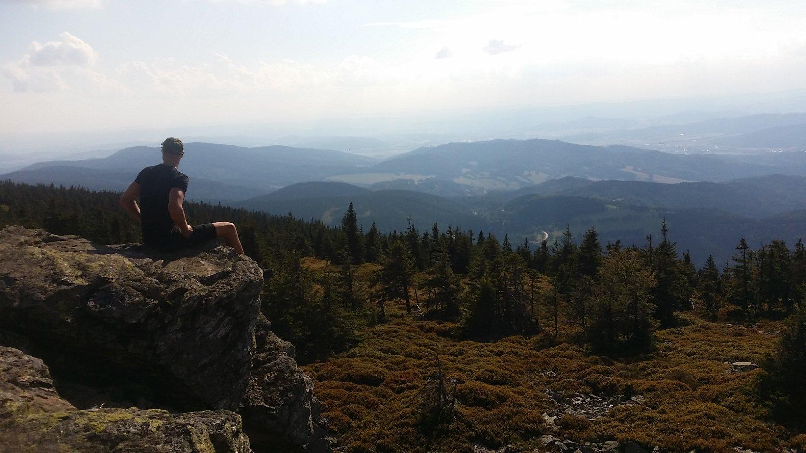 Jan Čech na vrcholu Pecný (5.8.2018 0:00)